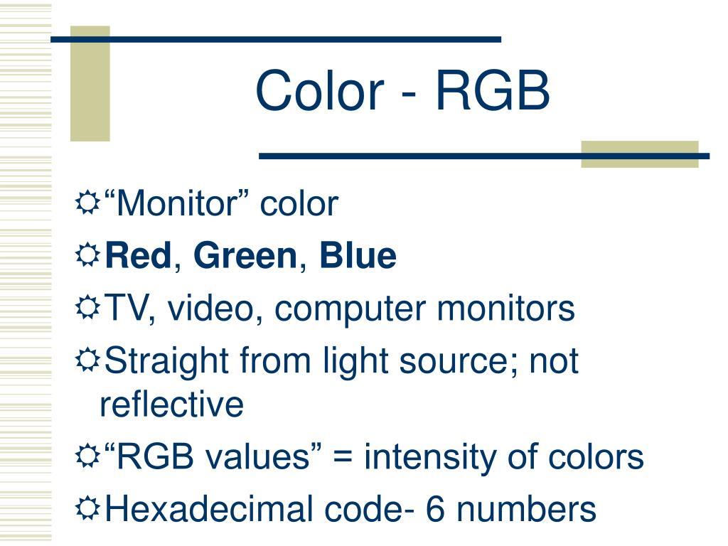 Color - RGB