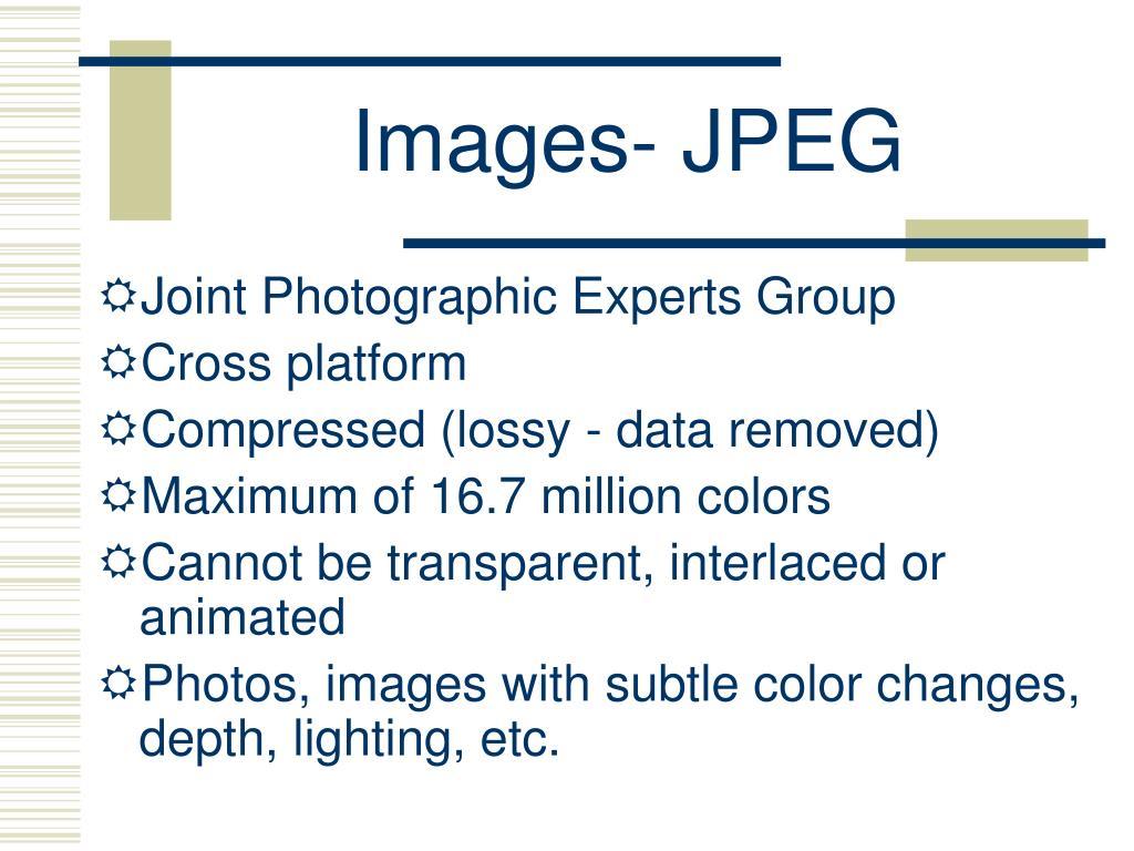 Images- JPEG