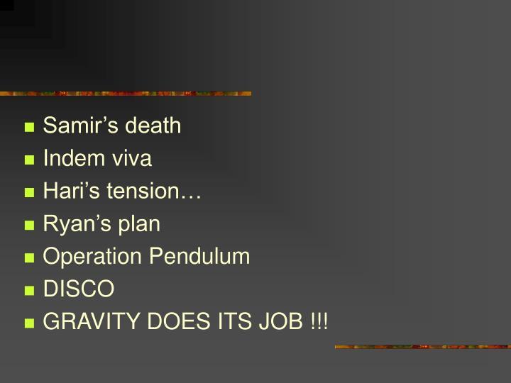 Samir's death