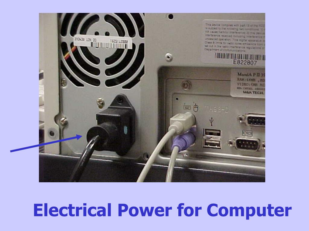 Electrical Power for Computer