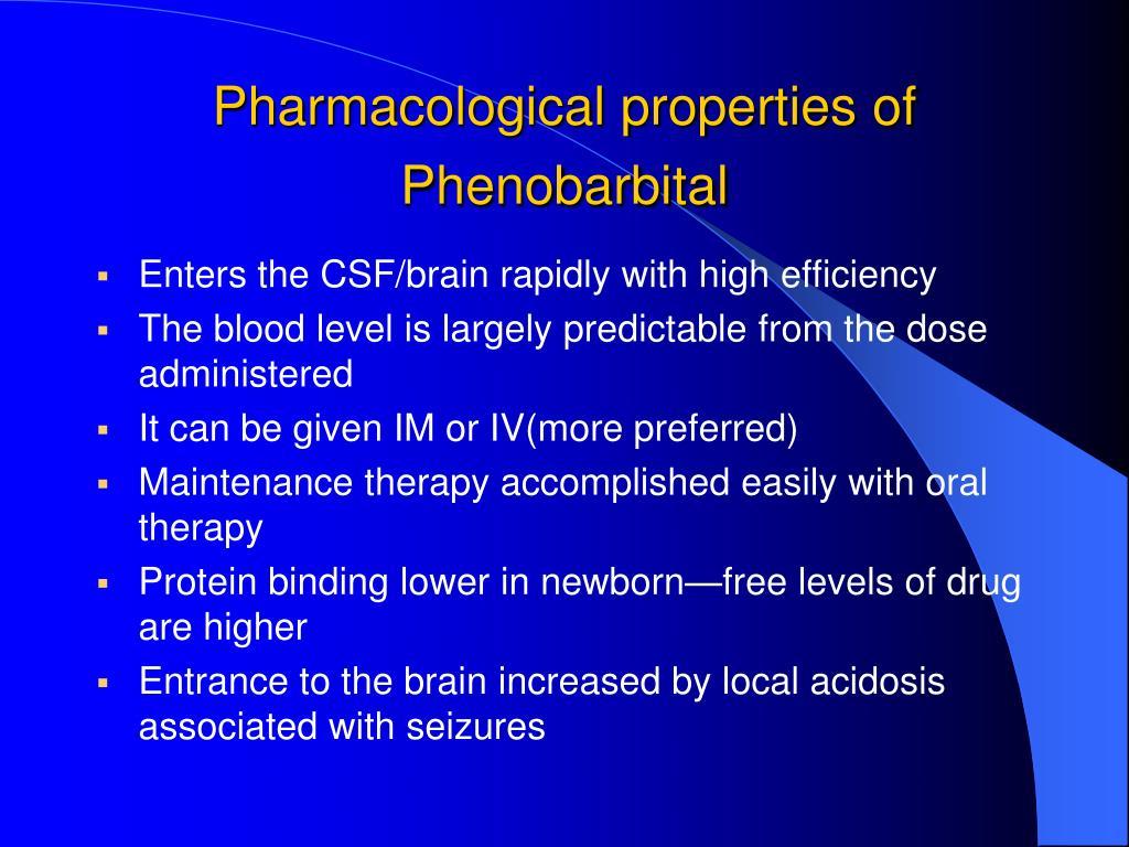 Pharmacological properties of Phenobarbital