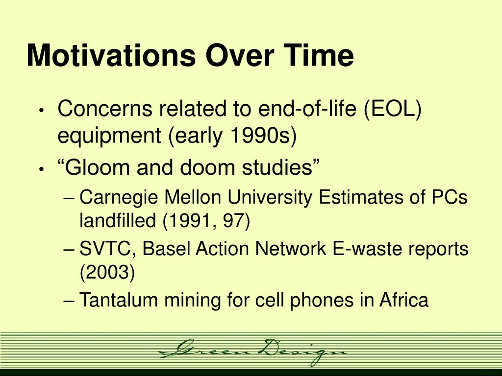 Motivations Over Time