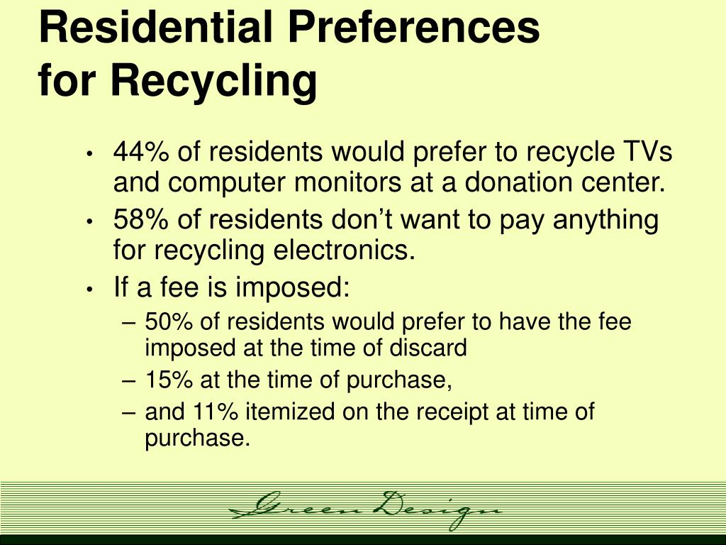 Residential Preferences