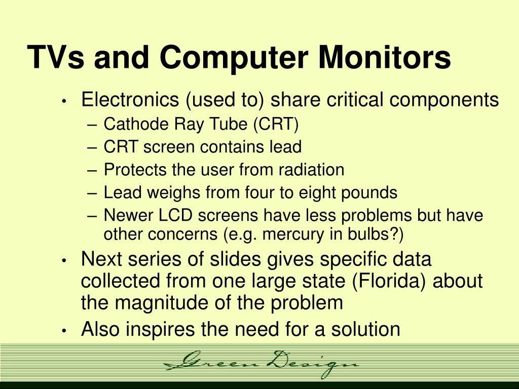 TVs and Computer Monitors