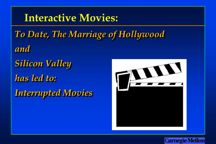Interactive Movies: