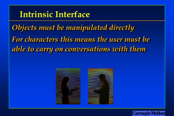 Intrinsic Interface