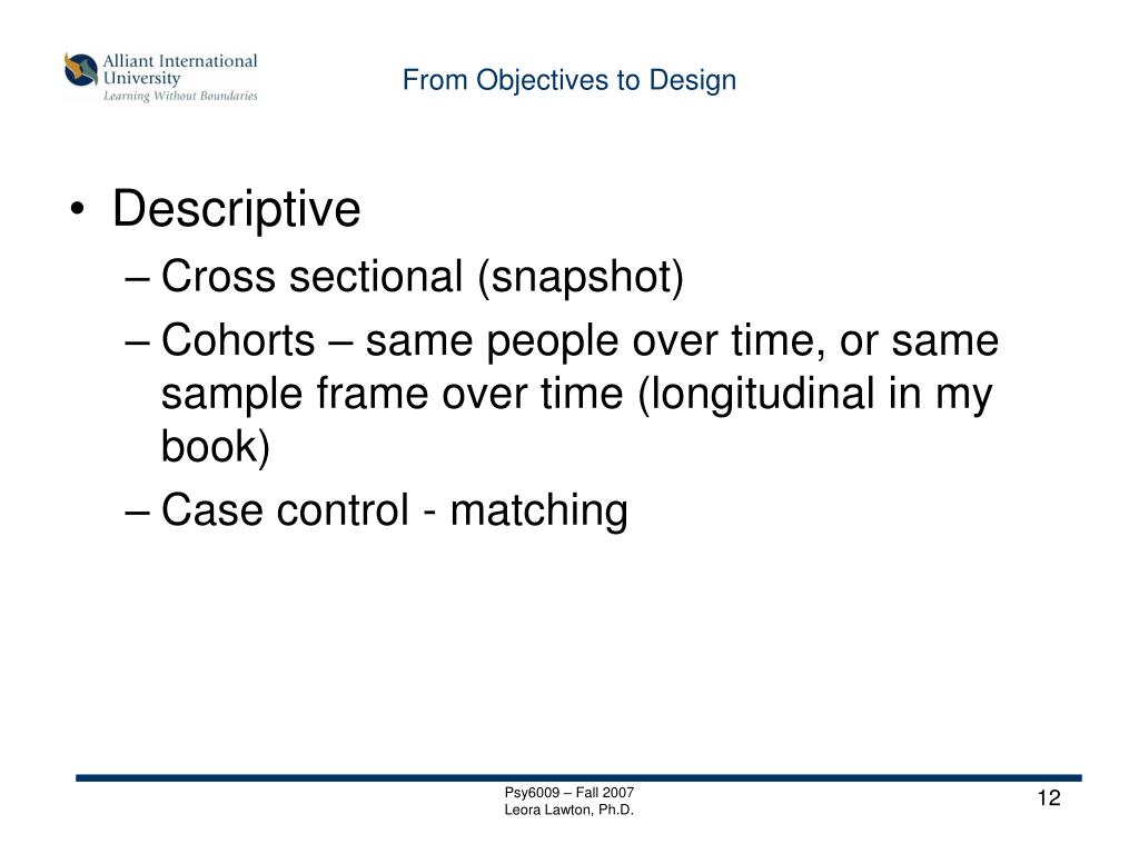 From Objectives to Design