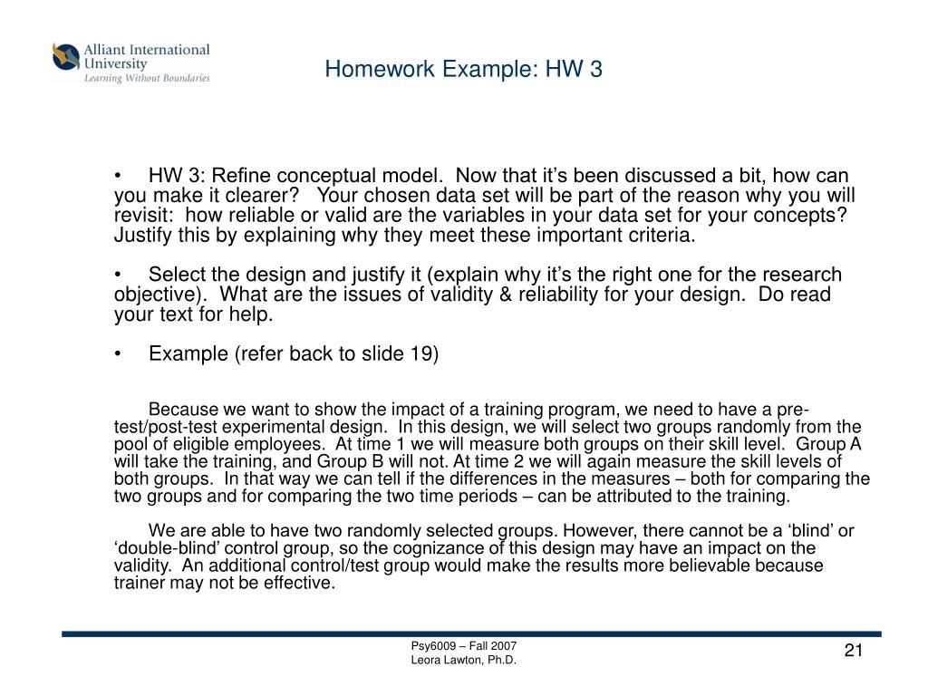 Homework Example: HW 3