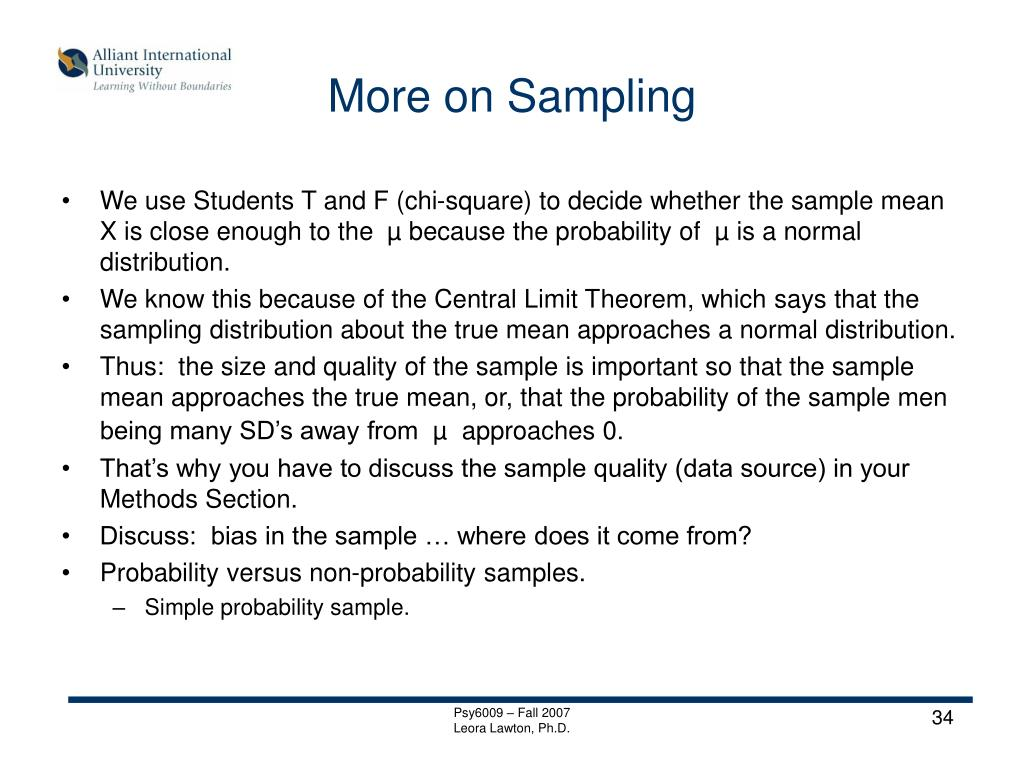 More on Sampling