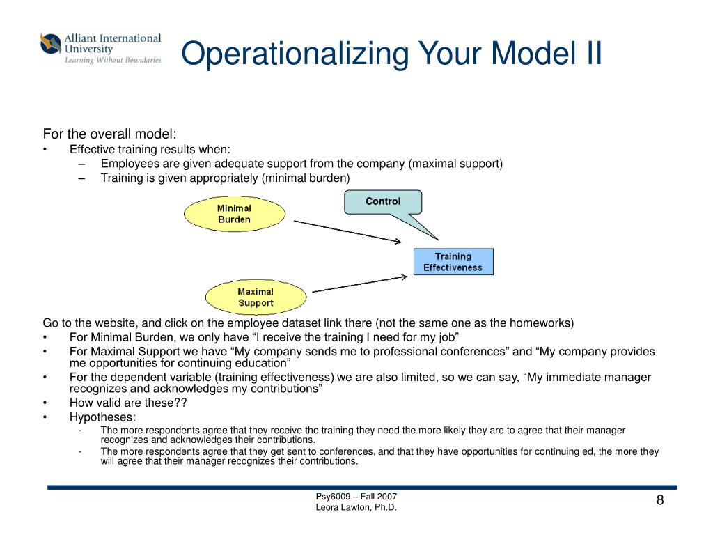 Operationalizing Your Model II