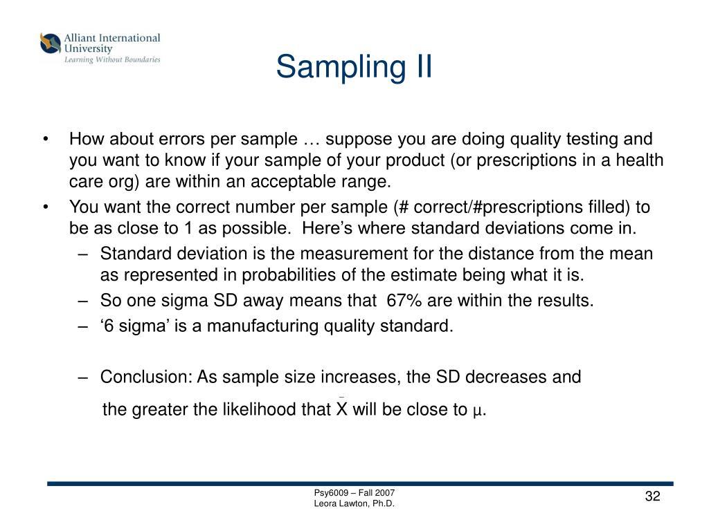Sampling II