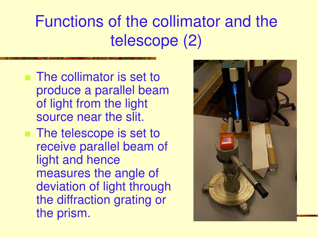 Functions of the collimator and the telescope (2)