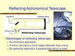 reflecting astronomical telescope