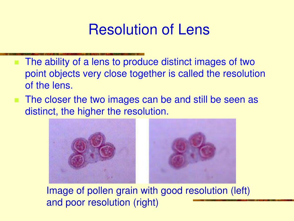 Resolution of Lens