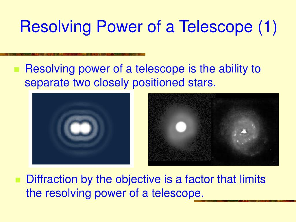 Resolving Power of a Telescope (1)