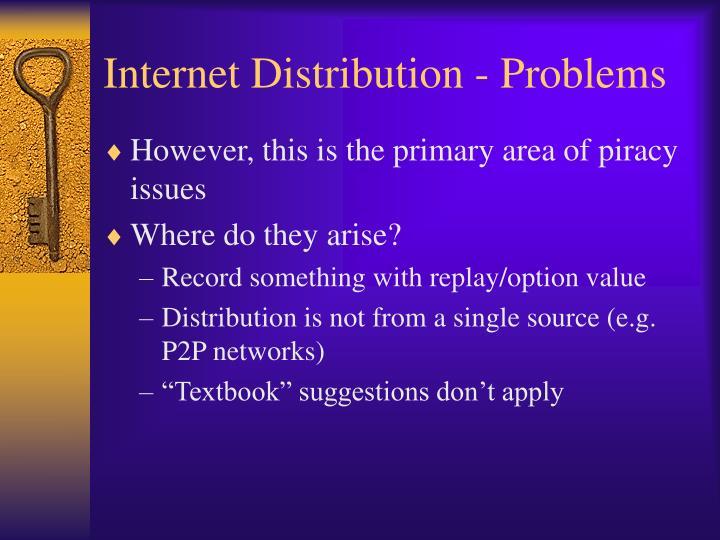 Internet Distribution - Problems