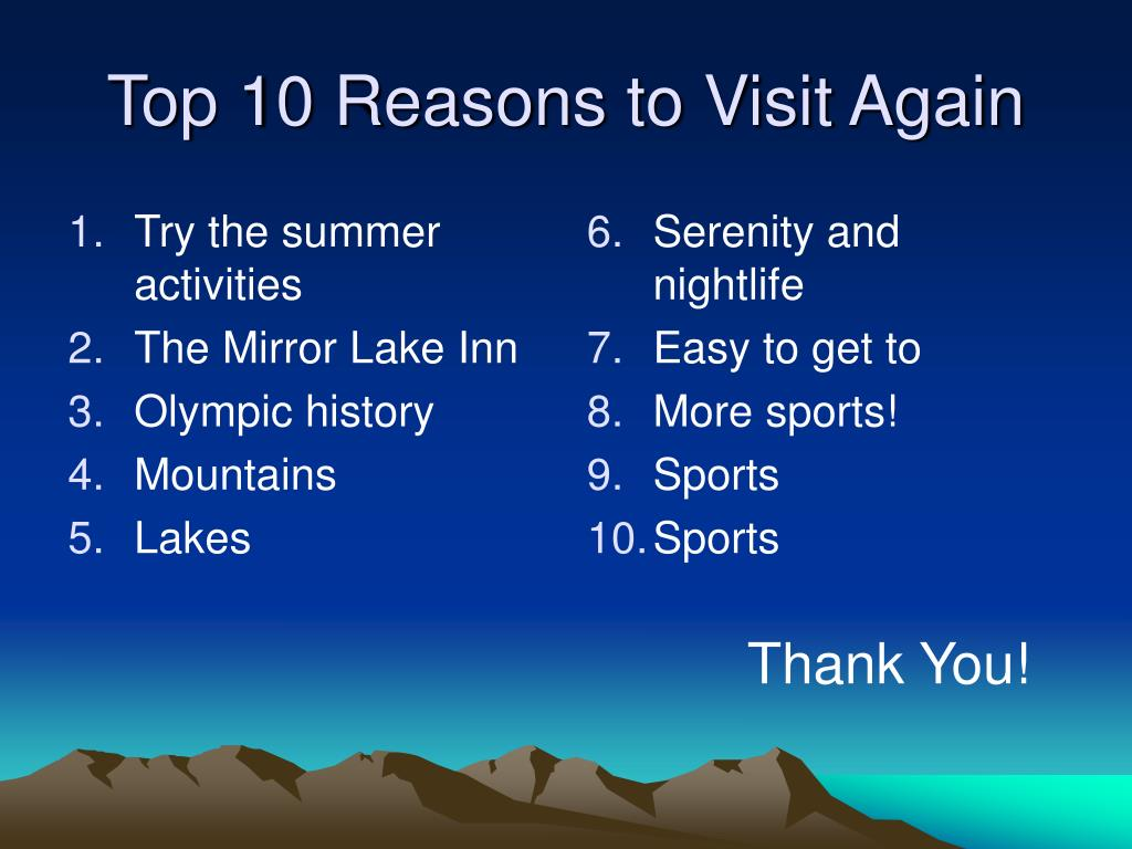 Try the summer activities