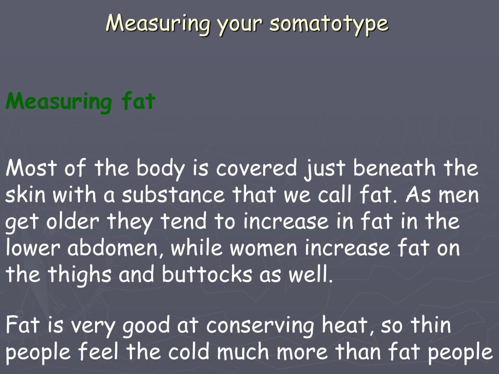 Measuring your somatotype