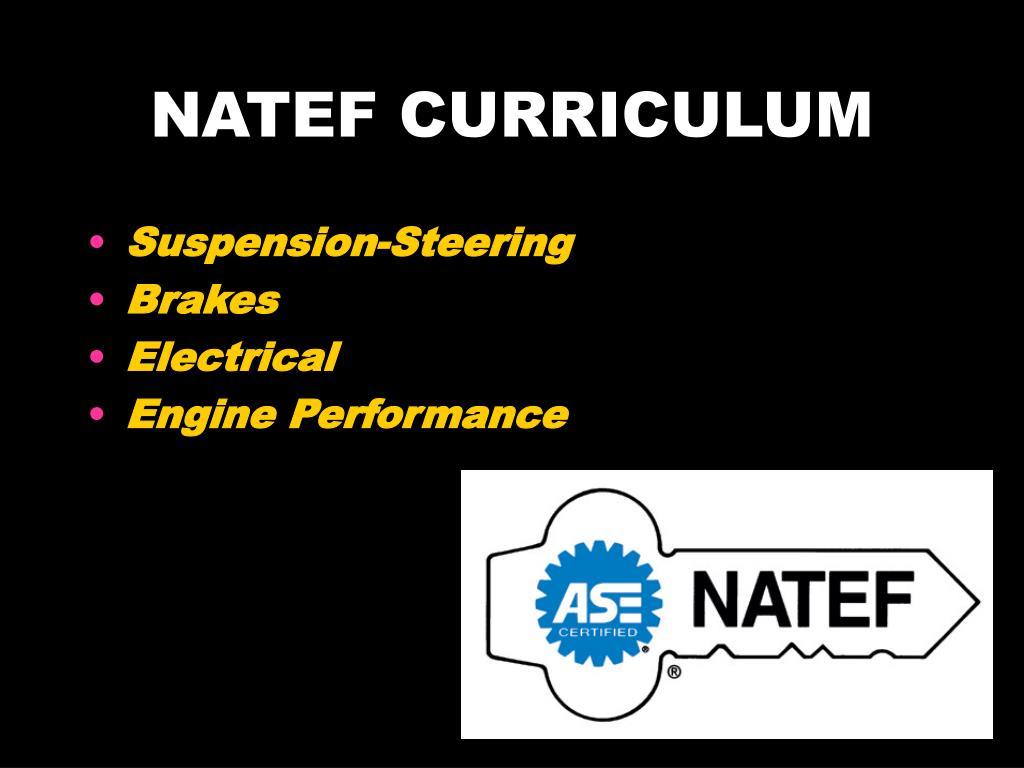 NATEF CURRICULUM