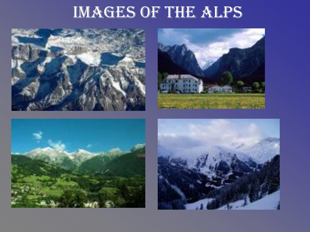 Images of the alps