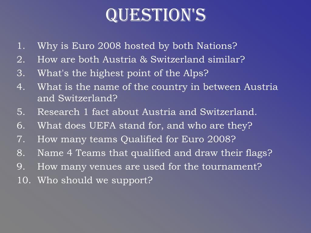 Question's