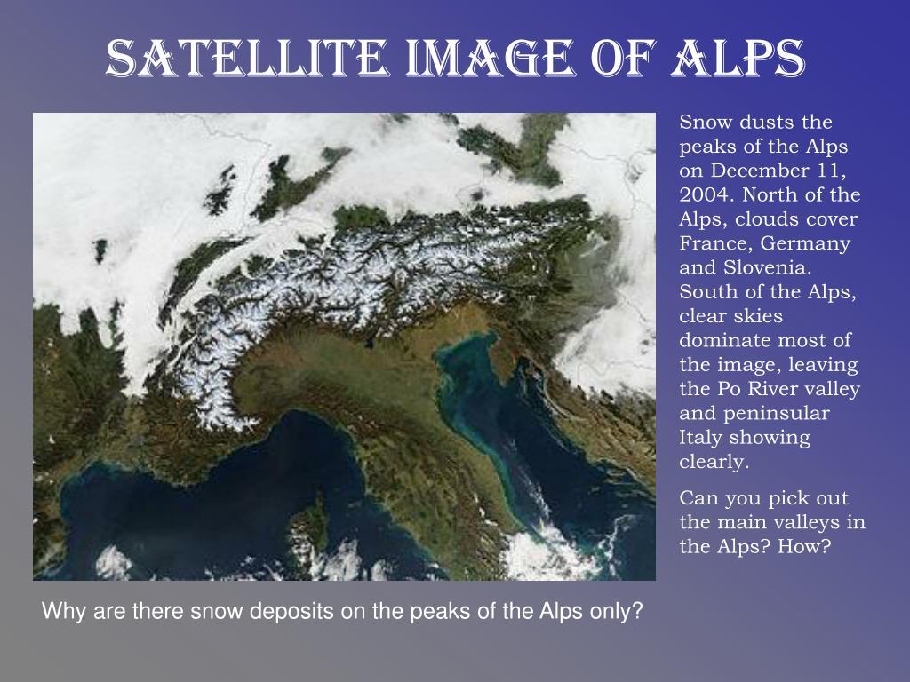 Satellite Image of Alps
