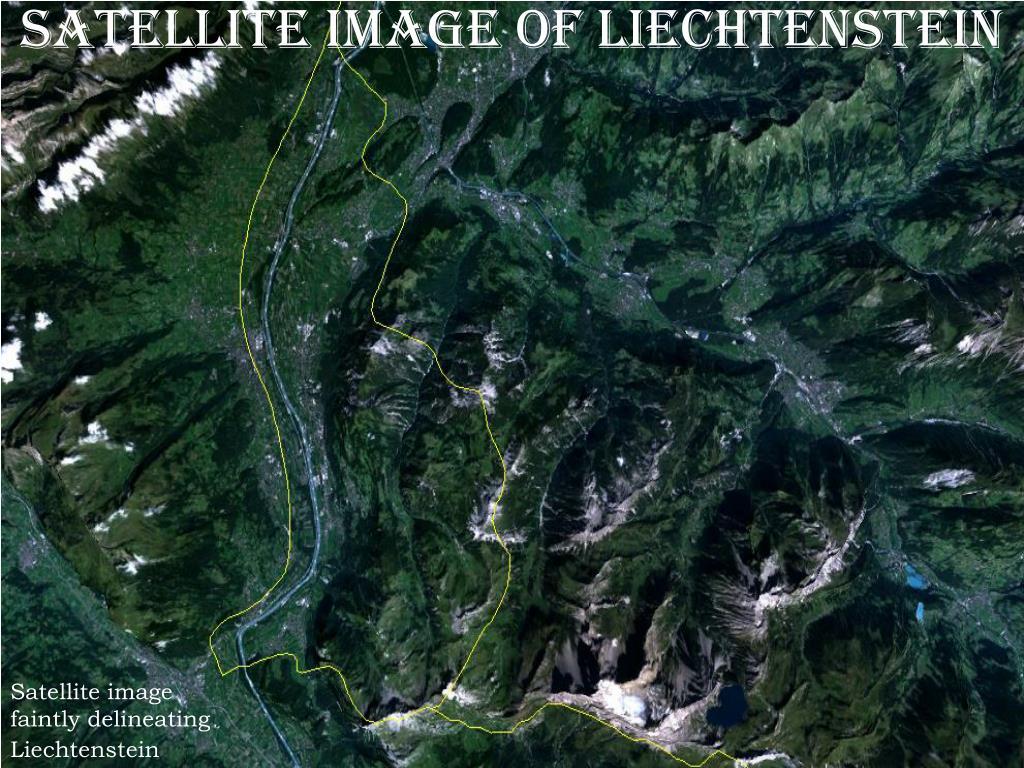 Satellite image of Liechtenstein