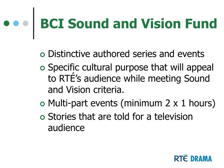 BCI Sound and Vision Fund