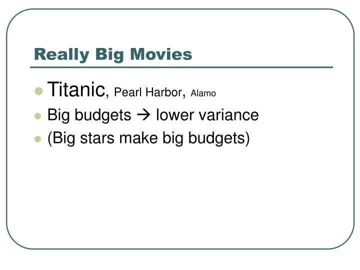 Really Big Movies