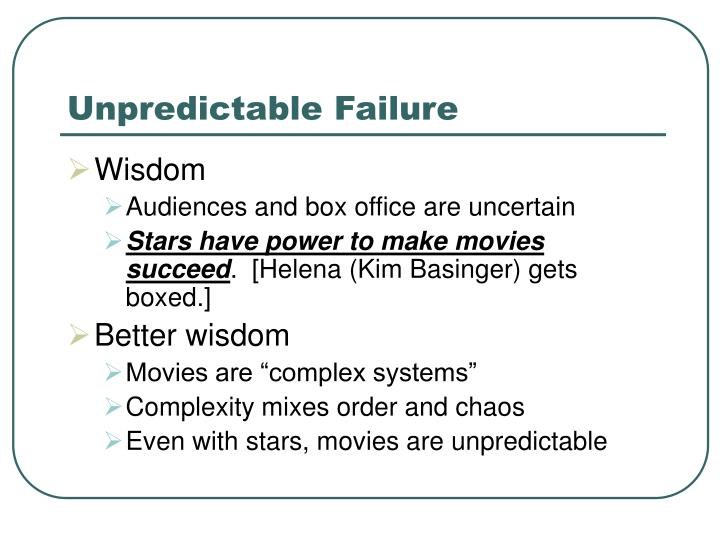 Unpredictable Failure