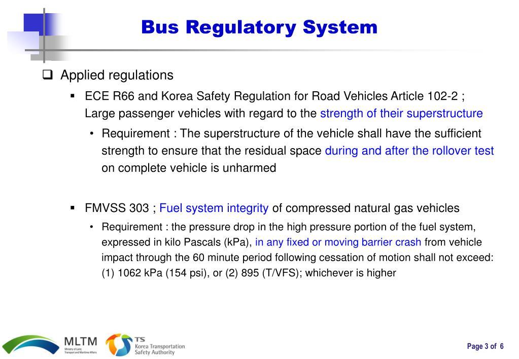 Bus Regulatory System