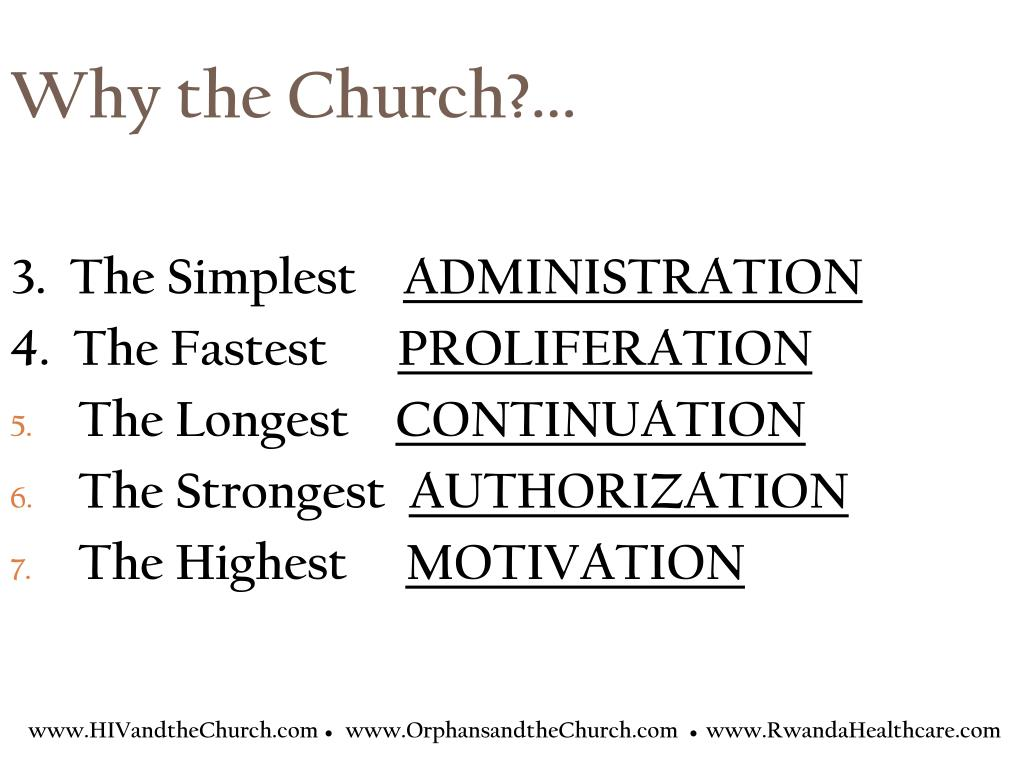 Why the Church?...