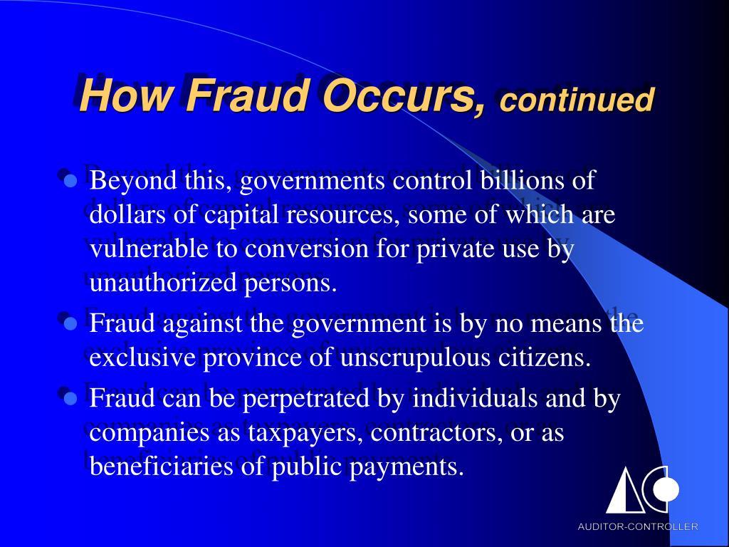 How Fraud Occurs,