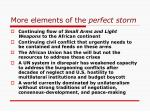 more elements of the perfect storm
