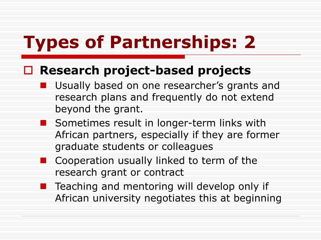 Types of Partnerships: 2