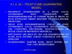 6 1 2 2a trust fund guarantee model