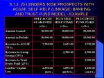 6 1 2 2b lenders risk prospects with acgsf self help linkage banking and trust fund model example