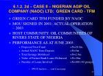 6 1 2 2d case ii nigerian agip oil company naoc ltd green card tfm