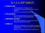 6 1 2 3 idp swot