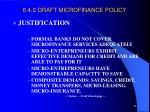 6 4 2 draft microfinance policy