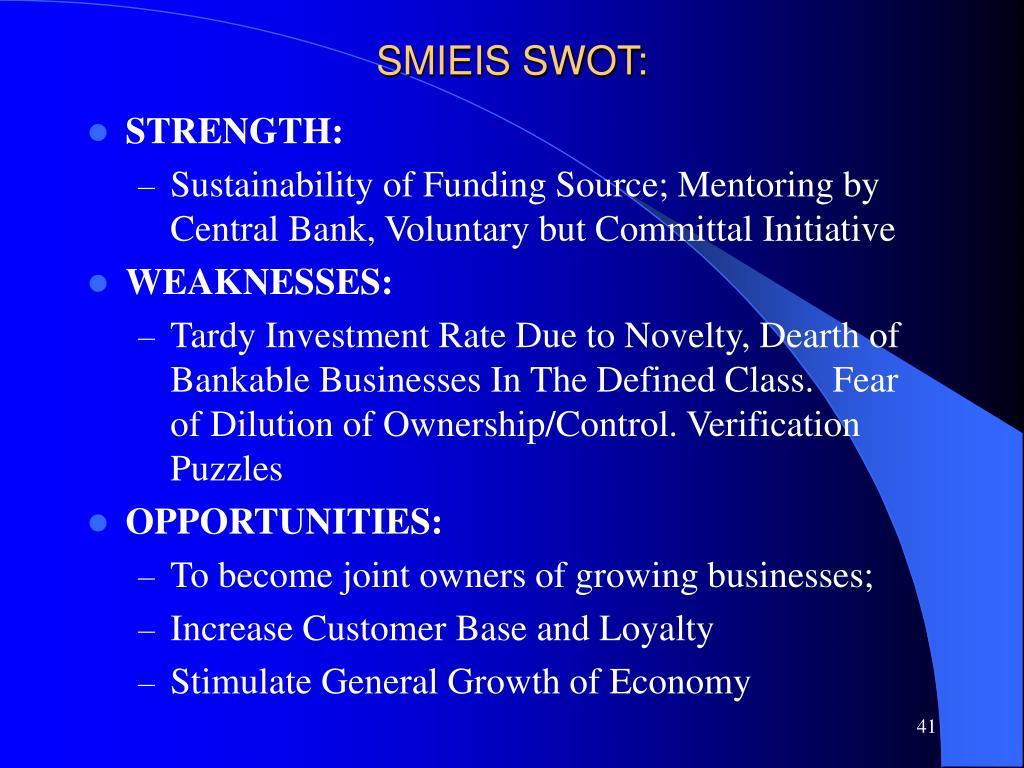 SMIEIS SWOT: