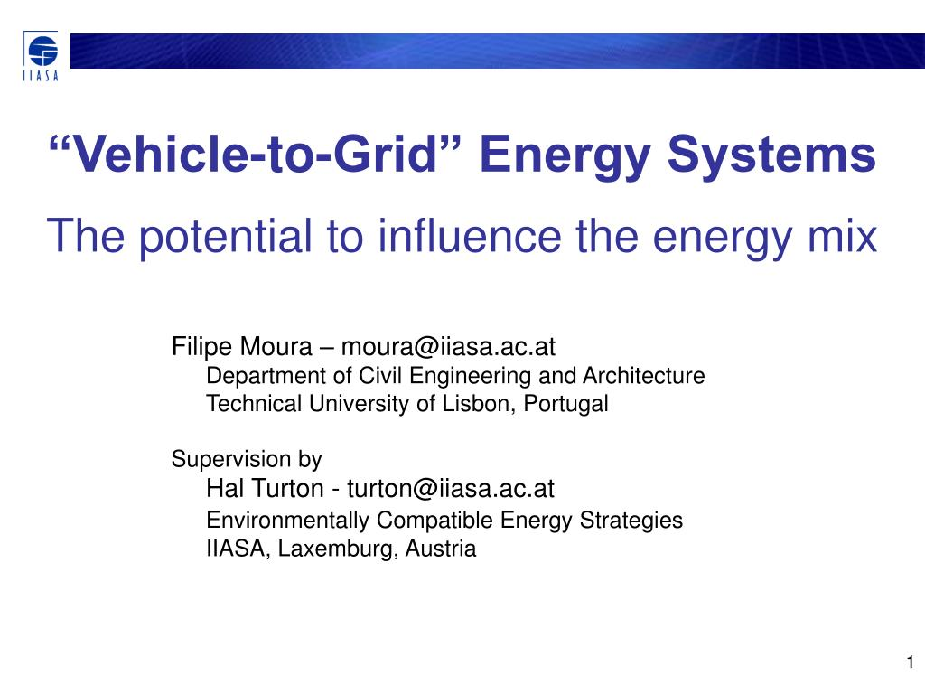 """Vehicle-to-Grid"" Energy Systems"