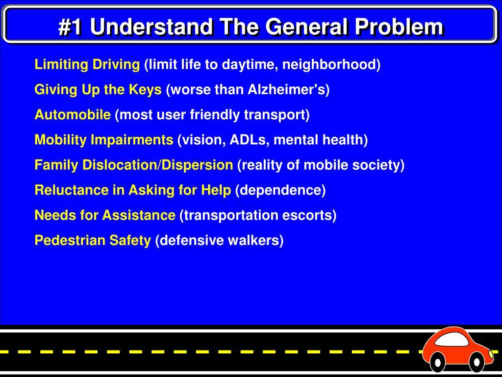 #1 Understand The General Problem