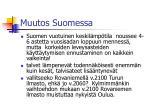 muutos suomessa