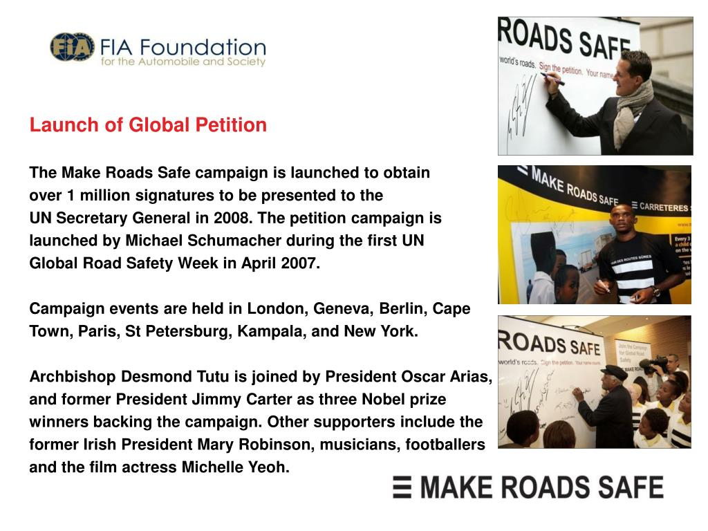 Launch of Global Petition