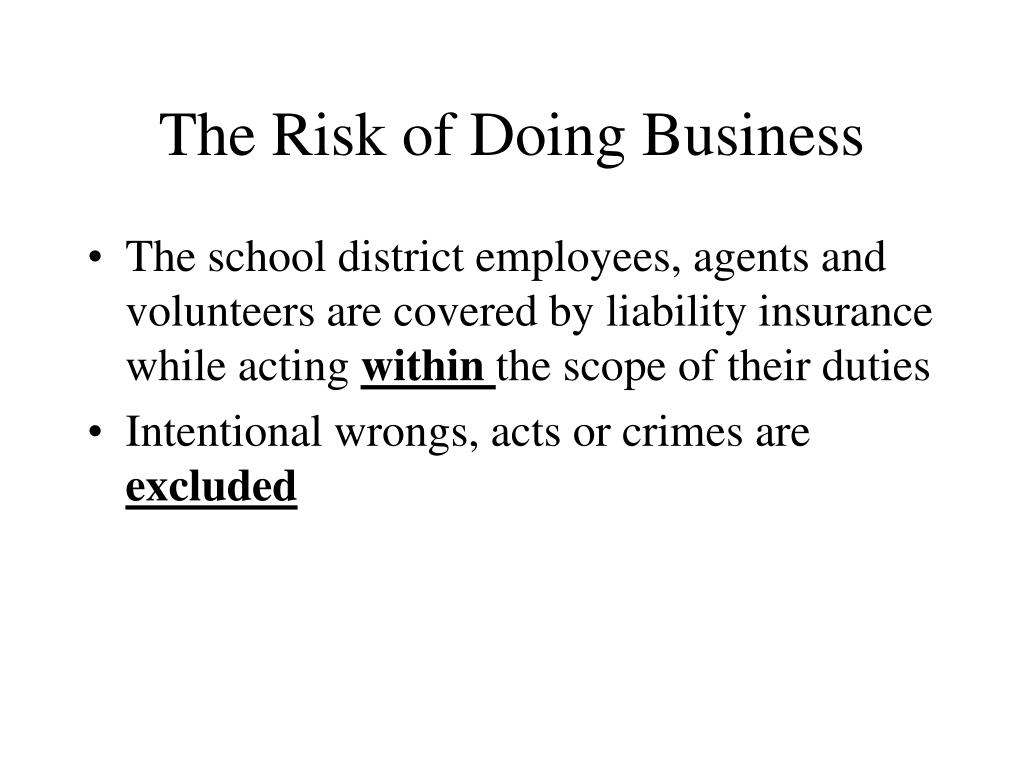 The Risk of Doing Business