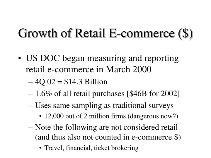 Growth of retail e commerce