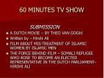 60 minutes tv show