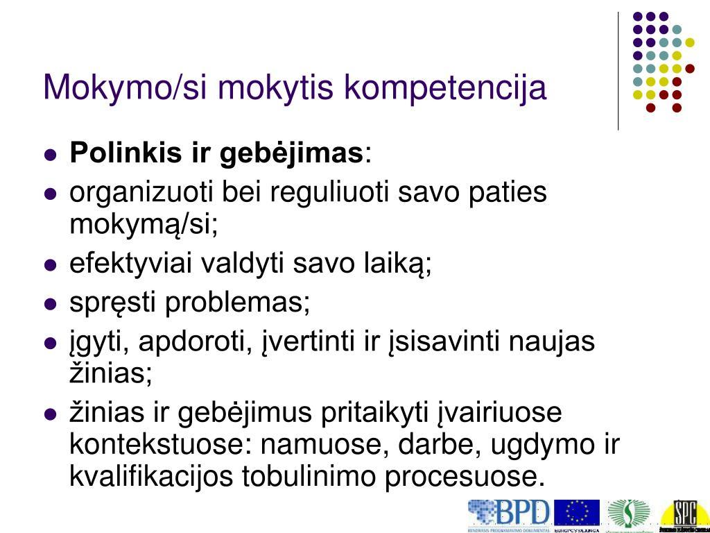 Mokymo/si