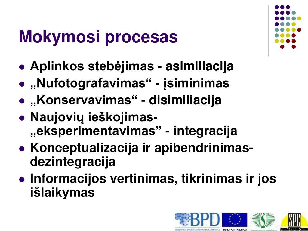 Mokymosi procesas